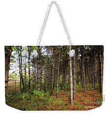 Pine Trees Of Whitetail Woods Park Weekender Tote Bag by Jimmy Ostgard