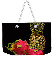 Weekender Tote Bag featuring the photograph Pineapple And Dragon Fruit by David French