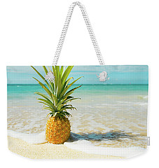 Weekender Tote Bag featuring the photograph Pineapple Beach by Sharon Mau