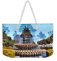Pineapple Fountain Weekender Tote Bag by Lynne Jenkins