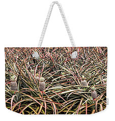 Weekender Tote Bag featuring the photograph Pineapple Pano by Heather Applegate