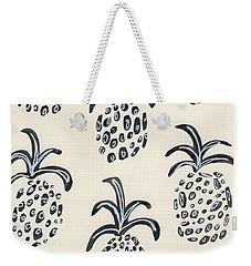 Pineapple Print Weekender Tote Bag by Anne Seay
