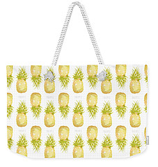 Weekender Tote Bag featuring the painting Pineapple Print by Cindy Garber Iverson