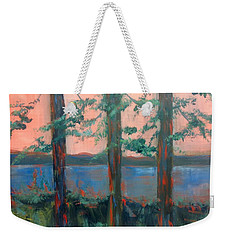 Pines At Dusk Weekender Tote Bag
