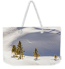 Pines In The Snow Drifts Weekender Tote Bag