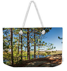 Weekender Tote Bag featuring the photograph Pines On Sunny Cliff by Elena Elisseeva