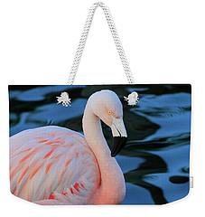 Pink And Black Weekender Tote Bag