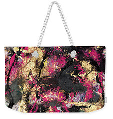 Pink And Gold Merge Weekender Tote Bag