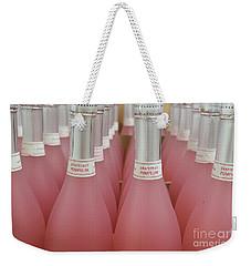 Pink And Gray Weekender Tote Bag