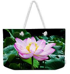 Pink And Green Floral Garden Ballet 11u Lotus Bloom Weekender Tote Bag