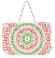 Pink And Green Mandala Fractal 003 Weekender Tote Bag