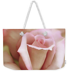 Pink And Ivory Rose Portrait Weekender Tote Bag