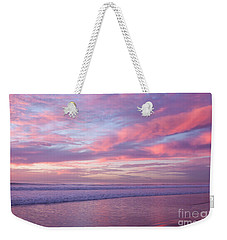 Pink And Lavender Sunset Weekender Tote Bag