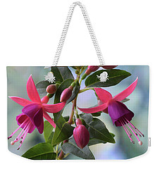 Pink And Purple Fuchsia Weekender Tote Bag