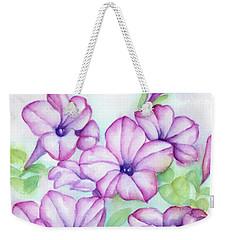 Pink And Purple Weekender Tote Bag
