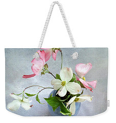 Pink And White Dogwood Still Weekender Tote Bag