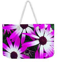 Pink And White Flowers Weekender Tote Bag by Vizual Studio