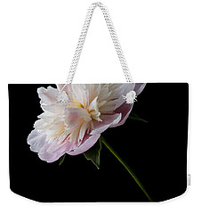 Pink And White Peony Weekender Tote Bag by Patti Deters