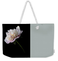 Pink And White Peony Weekender Tote Bag