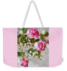 Pink And White Rose Bouquet Weekender Tote Bag by Diane Alexander