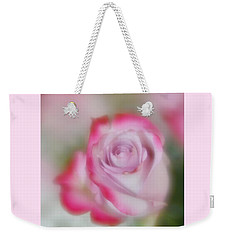 Weekender Tote Bag featuring the photograph Pink And White Rose  by Diane Alexander