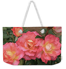 Pink And Yellow Weekender Tote Bag by Dennis Baswell