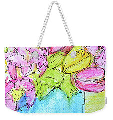 Pink And Yellow Tulips Weekender Tote Bag