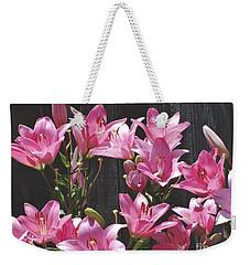 Pink Asiatic Lilies Weekender Tote Bag