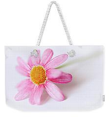 Pink Aster Flower II Weekender Tote Bag by Nick Biemans