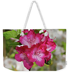 Weekender Tote Bag featuring the photograph Pink Azalea by Sandy Keeton