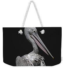 Pink-backed Pelican Rear View Weekender Tote Bag