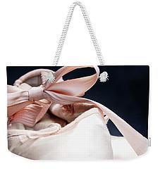 Pink Ballerina Pointe Shoes Weekender Tote Bag