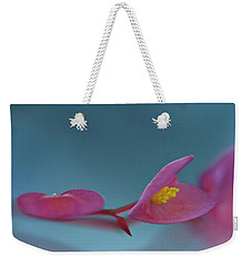 Pink  Begonia Weekender Tote Bag