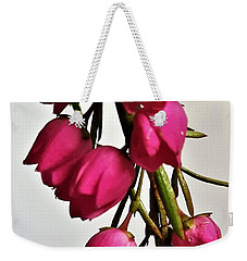 Pink Bells Weekender Tote Bag by Jim Harris