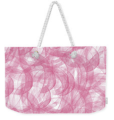 Pink Bliss Abstract Weekender Tote Bag