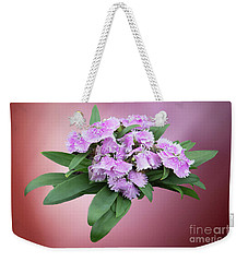 Pink Blooming Plant Weekender Tote Bag by Linda Phelps
