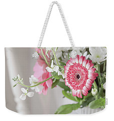 Weekender Tote Bag featuring the photograph Pink Blooms Love by Kim Hojnacki