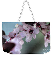 Weekender Tote Bag featuring the photograph Pink Blossoms by Jim and Emily Bush