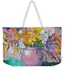 Pink Bowl Weekender Tote Bag