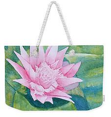 Pink Bromiliad Weekender Tote Bag