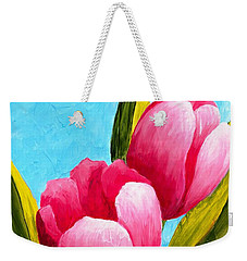 Pink Bubblegum Tulips I Weekender Tote Bag