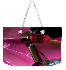 Pink Cadillac Weekender Tote Bag by Trey Foerster