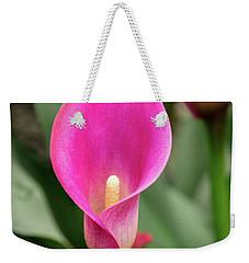 Pink Calla Weekender Tote Bag
