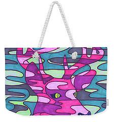 Pink Camo Deer Weekender Tote Bag