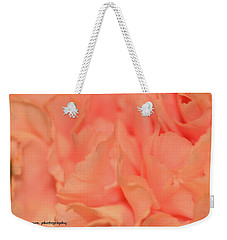 Pink Carnations Weekender Tote Bag by Nance Larson