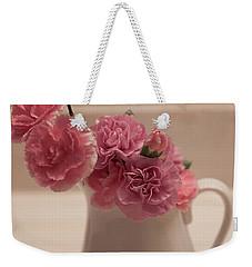 Pink Carnations Weekender Tote Bag by Sherry Hallemeier