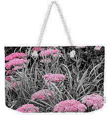 Pink Carved Cowslip Weekender Tote Bag