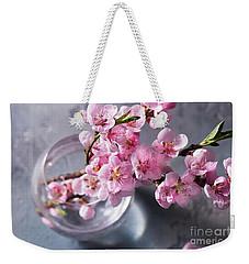 Pink Cherry Blossom Weekender Tote Bag