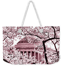 Pink Cherry Trees At The Jefferson Memorial Weekender Tote Bag