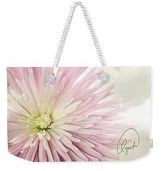 Pink Chrysanthemum Weekender Tote Bag